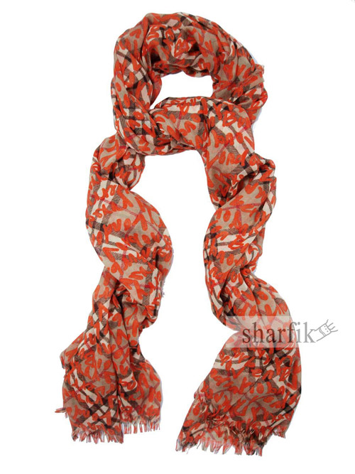 Squared scarf